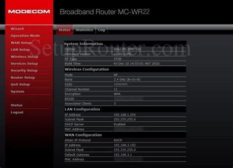 How To Login To The Modecom Mc-wr22
