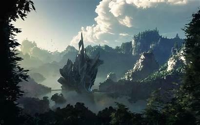 Landscape Fantasy Desktop Wallpapers Artwork Backgrounds Cool