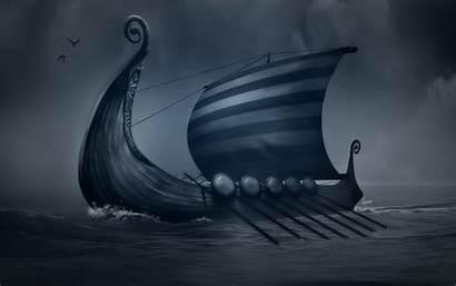 Viking Ship Vikings Ships Longship Wallpapers Drawing