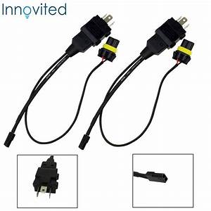 2x H4 9003 Easy Relay Harness Hi  Lo Bi