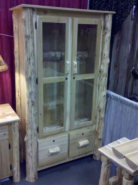 Hand Made Log Gun Cabinet by Ml Cross Llc   CustomMade.com