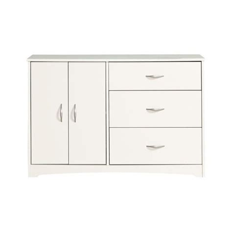 sauder beginnings dresser in soft white single 3 drawer