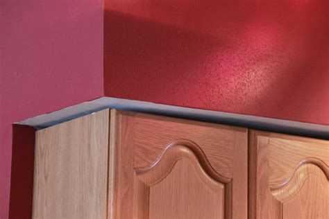 how to fix gap between ceiling and kitchen crown molding kitchen cabinet soffit gap