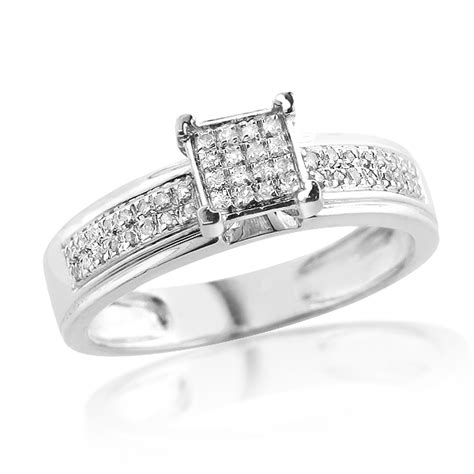 cheap engagement rings sterling silver cheap diamond