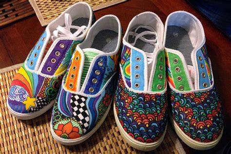 Decorating Fabric With Sharpies by 13 Best Images About Decorate Shoes On Hanging