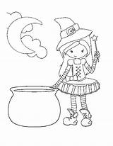 Coloring Printable Witch Halloween Pages Crazy Amber Comment October Leave sketch template