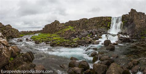 Photo Öxarárfoss Waterfall In Thingvellir National Park