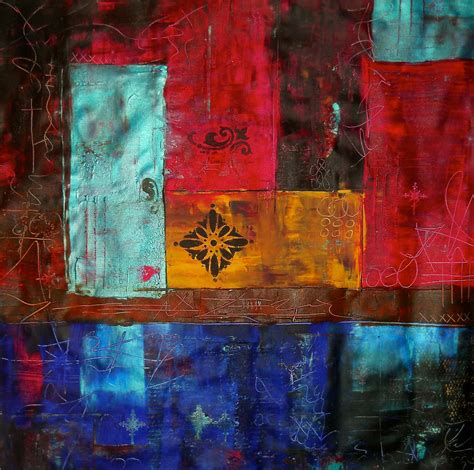 Laura Carter Artwork Patchwork Ii Colourful Contemporary