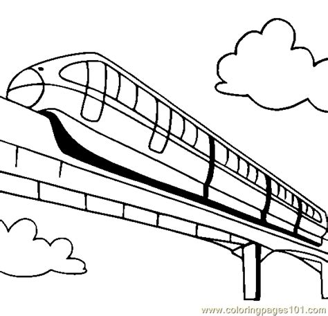 land transportation clipart black and white monorail coloring page free land transport coloring