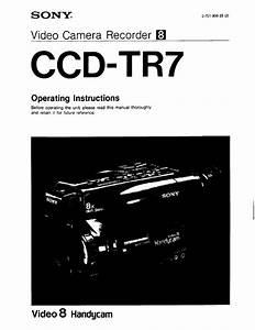 Sony Ccd-tr7