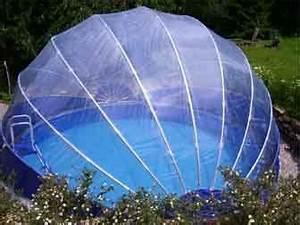 Foliové zastřešení kruhový bazén