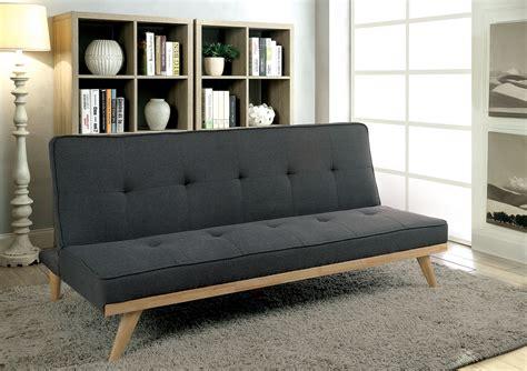 furniture  america gy gray mid century modern futon