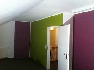 Zimmer Aufpeppen Durch Grne Und Lila Wnde Gestaltung