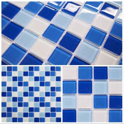 300x300x4mm swimming pool glass mosaic tiles for