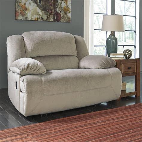 wide seat recliner toletta fabric wide seat recliner in granite 5670352