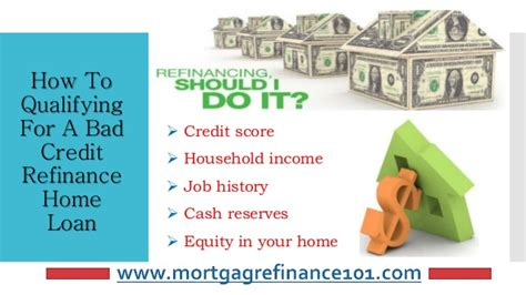 How To Refinancing Home Mortgage Loans With Bad Credit