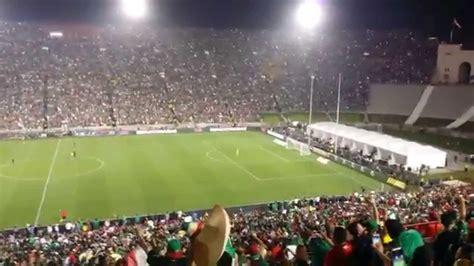 mexico  ecuador soccer game cantando cielito lindo