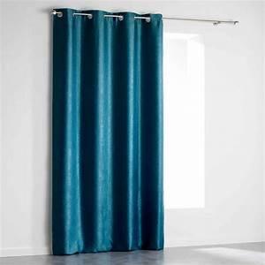 Rideaux Velours Bleu : rideau occultant velours shadow 140x240cm bleu p trole ~ Teatrodelosmanantiales.com Idées de Décoration