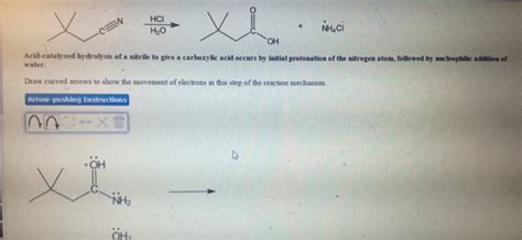 Acid Catalyzed Hydrolysis Of A Nitrile To Give A C