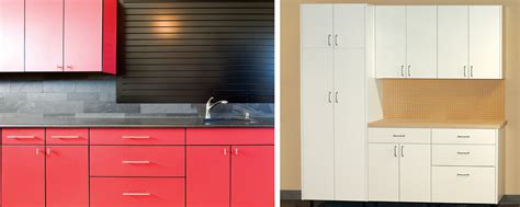two garages custom cabinets