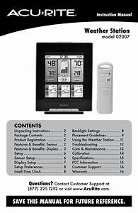 Acurite 02007 Weather Station User Manual