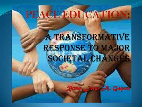 peace education rona jean gapuz bsed lll slideshare
