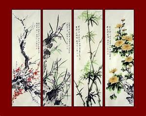 Chinese Painting: Plum,Orchid,Bamboo,Chrysanthemum ...