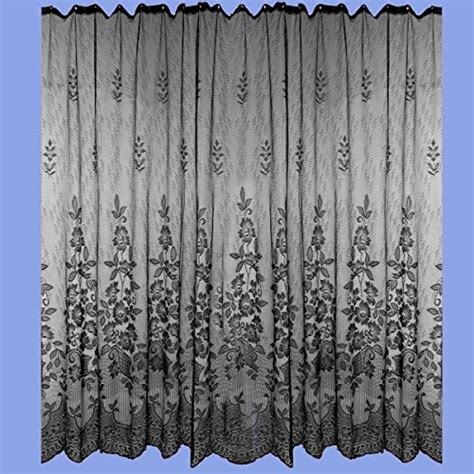 shower curtain black polyester lace 72 x 72 renovator s
