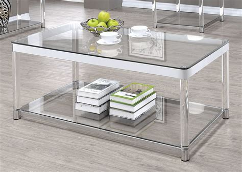 720748 Coffee Table By Coaster W/glass Top & Options