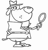 Detective Coloring Pages Dog Awesome Museum Master Netart Night Printable Getcolorings Unique sketch template