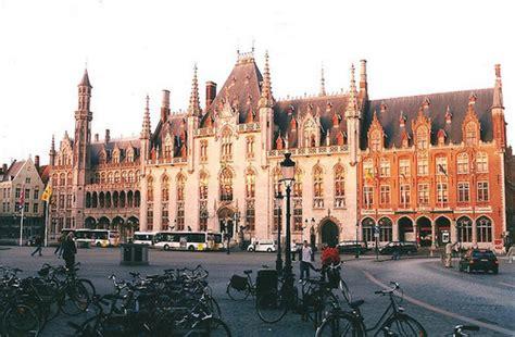 architecture belgium bruges buildings city hall facade image   favimcom