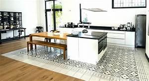 Sol Vinyle Cuisine : carreau de ciment cuisine carreau ciment cuisine simple ~ Farleysfitness.com Idées de Décoration