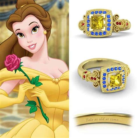 disney princess belle engagement ring disney engagement