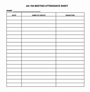 Sample Attendance Chart