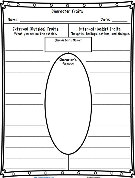 character traits worksheetpdf school tools pinterest