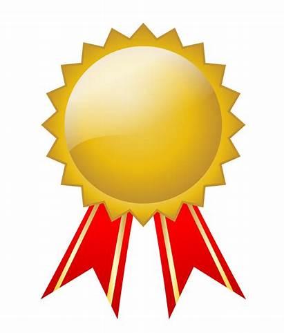 Gold Ribbon Badge Vector Library Winner Awards