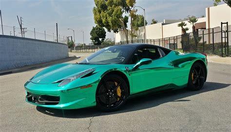 chrome ferrari 458 shiny turquoise chrome ferrari 458