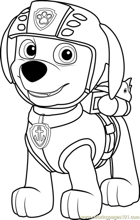 Coloring Zuma zuma coloring page free paw patrol coloring pages