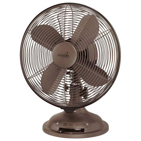 oscillating desk fan rubbed bronze oscillating table fan minka aire table