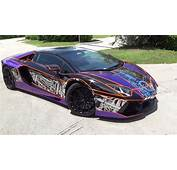 2 Tron Lamborghini Aventador Roadster By Custom Wrap