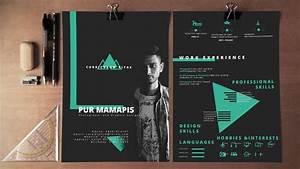 Make Resume For Free Self Promotion Resume Cv Dark Theme Photoshop Free