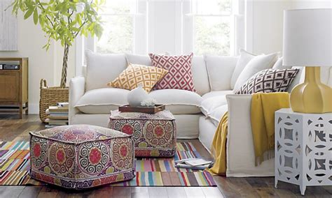 Living Room Poufs by Pouf A Palooza Decorating With Poufs Driven By Decor