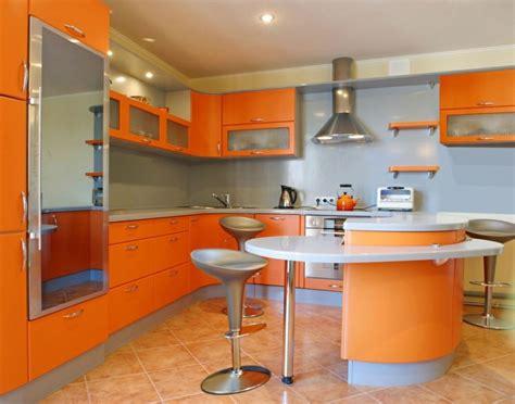 cuisine orange cuisine couleur orange pour un décor moderne et énergisant