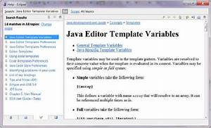 eclipse code templates With using templates in java