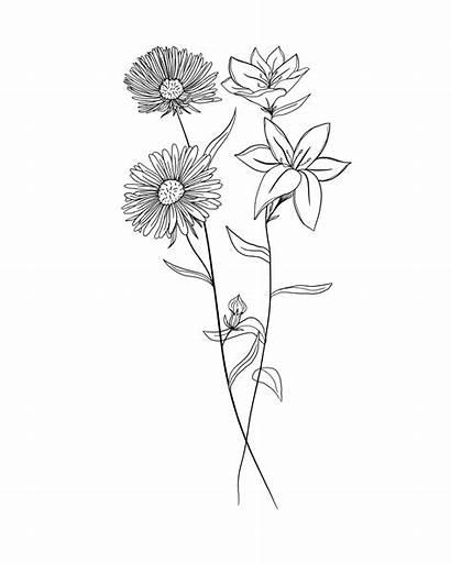 Birth Flower Month Flowers Tattoo Bouquet Tattoos