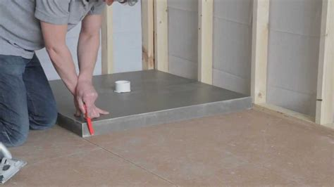 how to install a universal shower base
