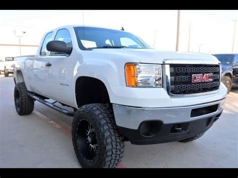 gmc sierra hd extended cab lifted  youtube