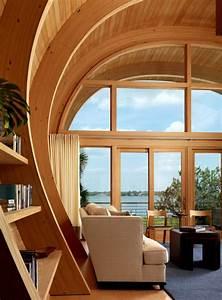 C-shaped, House