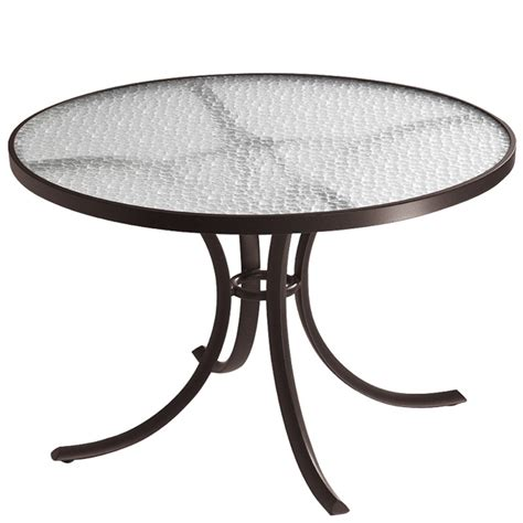42 inch round dining table tropitone 1842 acrylic and glass tables 42 inch round