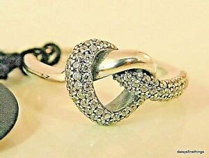 newtags authentic pandora silver ring knotted heart